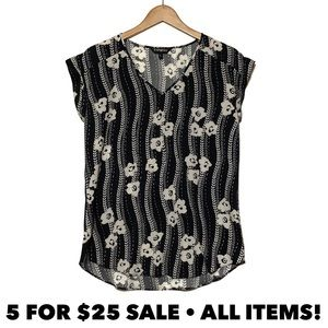 Express Floral Tunic Top